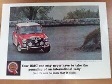 BMC Mini Cooper Monte Carlo Rally Winner c1964 Vintage Ad Gallery No 53 Postcard