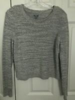 Aerie Women's Gray Textured Soft Pullover Long Sleeve Sweater Size M