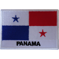Panama Flag Iron On Patch Sew On T Shirt Clothes Bag America Embroidered Badge