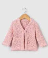BABY GIRLS TEXTURED KNIT CARDIGAN PINK AGE 24 MONTHS NEW (ref 418)