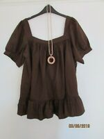 NWT BROWN TUNIC STYLE COTTON TOP SIZE 18/20 OLD NAVY