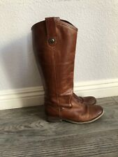Frye Melissa Button Knee High Cognac Riding Leather Womens Boots Size US 6