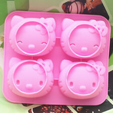 Hello Kitty Cake Mold Floral Flexible Silicone Soap Mould For Candy Chocolate