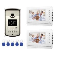 House Rfid Id Card Wired Video Door Phone Audio Visual Intercom System Villa 1V2