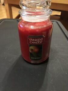 Yankee Candle MACINTOSH Apple Large Jar 22 Oz Red Housewarmer New Wax Fruit