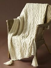 "KNITTING PATTERN - CUDDLES AND KISSES AFGHAN/BLANKET/THROW SIZE 48"" - 60"""