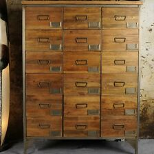 Office Apothecary Cabinet Large Chest Drawers Tall Vintage Industrial Furniture