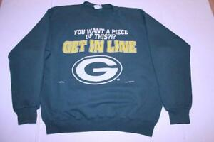 Men's Green Bay Packers L Vintage 1994 Crew Sweatshirt (Green) Nutmeg Mills