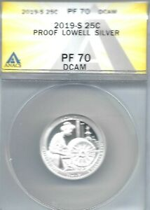 2019-S Proof Silver Lowell Park ANACS Authenticated PF 70