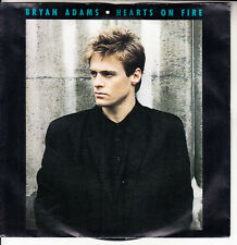 """BRYAN ADAMS  Hearts On Fire & Run To You PICTURE SLEEVE 7"""" 45 record NEW RARE!"""