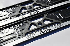 2x CAR LICENCE NUMBER PLATE SURROUNDS HOLDER FRAMES For Audi & Audi Car Number Plates \u0026 Surrounds | eBay