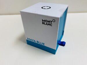 montblanc maya blue ink bottle 30ml nos