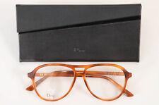 Christian Dior N.52 light brown havana aviator frame optical eyeglasses NEW $580