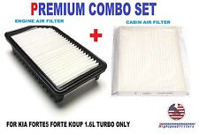 COMBO AIR FILTER CABIN AIR FILTER for 2014 - 16 KIA FORTE5 FORTE KOUP 1.6L TURBO