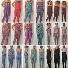 No Pattern Bandeau Regular Jumpsuits & Playsuits for Women