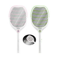 Electric Fly Mosquito Swatter Rechargeable Bug Wasp Zapper Racket Insect Killer