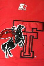 VTG Texas Tech Red Raiders Starter Zip Button Puffer Jacket Coat Size XL