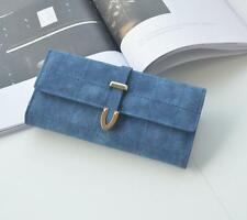 New Women lady Long PU Card Holder wallet fashion Scrub Lingge Hand bag 5 Color
