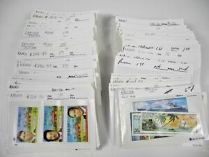 NAURU, Excellent assortment of MINT  Stamps in 125+ stock cards