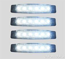 4 pièces blanc 6 LED 24V CLIGNOTANT CAMION REMORQUE CAMIONNETTE BUS CARAVANE