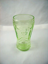 "Hocking ""CAMEO/ BALLERINA"" GREEN Water Tumbler (s) 5inch- 11 oz"