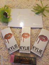 Morphe Jaclyn Hill ombretto + 3 Kylie Jenner LIQUIDO ROSSETTI KIT + dermacol
