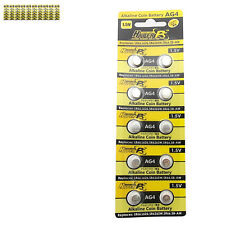 100 pcs AG4 D377 L626 SR66 SR626SW 1.5V Alkaline Button Cell Battery HyperPS