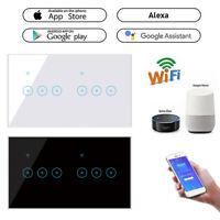 EWeLink 4/5/6 Gang WiFi Smart LED-Touch-Lichtschalter für Alexa Google Home