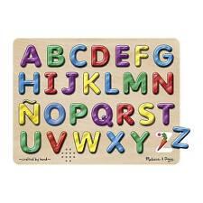 Melissa & Doug Spanish Alphabet Sound Puzzle 27pcs 723
