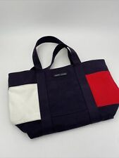 Tommy Hilfiger Canvas Tote Bag Red White Blue Block