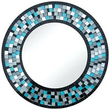 Zorigs Mirror Wall Art Décor– Handcrafted Decorative Wall Mirror, Pale Turquoise