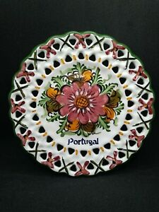 Hand Painted Portugal Saucer (Signed)