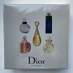 DIOR VOYAGE les parfums SET 5X 5 ML EDT PURE POISON DUNE DIOR ADDICT VINTAGE