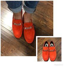 New $495 Rag & Bone Cooper Red Suede Slip On Loafer Shoes Sz. EUR 38 US 8