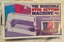 NEW Incredible Stud Setting Machine Sets Jewels Rhinestones and Studs