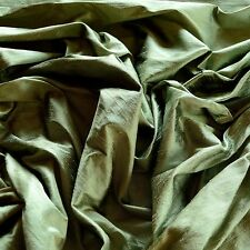 "Iridescent Sage Green Dupioni 100% Silk Fabric, 44"" Wide, By The Yard (S-222)"
