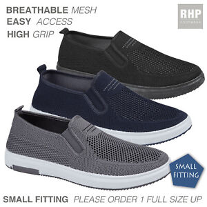 Mens Slip On Comfy Casual Fitness Go Walking Running Gym Trainers Deck Shoes