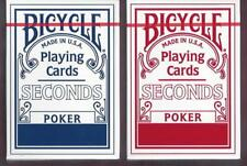 12 DECKS Bicycle Seconds playing cards FREE USA SHIPPING ON 2nd BRICK
