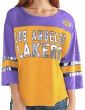G-III Sports NBA Los Angeles Lakers Adult Women First Team Mesh Top Small NEW