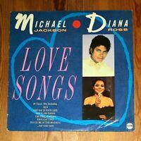 Michael Jackson And Diana Ross – Love Songs Vinyl LP Comp 33rpm 1987 STAR 2298