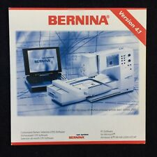 Bernina Customized Pattern Selection (Cps) Software Cd Version 4.1 For Artista