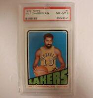 1972 Topps Basketball Wilt Chamberlain #1 PSA 8 NM-MT