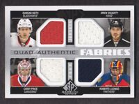 2014-15 SP Game Used Authentic Fabrics Quad Keith/Doughty/Carey Price/Luongo