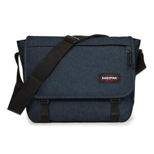 EASTPAK Unisex Umhängetasche Delegate Messenger Laptop Bag Triple Denim (blau)