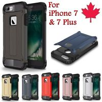 For iPhone 7 / Plus Case - Shockproof Duty Hybrid Protective Hard Armor Cover