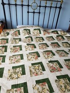 PATCHWORK QUILT HAND MADE Japanese Fabric