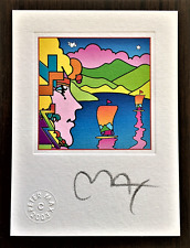 PETER MAX *Original Hand Signed Lithograph with 2003 Official Studio Seal.