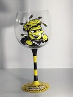 RARE WSU Wichita State University Shockers Wine Glass