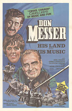 Don Messer His Land And His Music orig 1971 Documentary one sheet movie poster