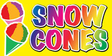 """12x6"""" Food Truck Restaurant Store Sign DECAL STICKER - SNOW CONES yb"""